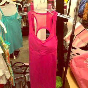 Fabletics pink compression dress